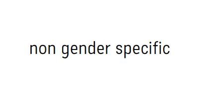 Non Gender Specific
