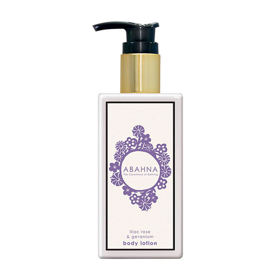 Abahna Lilac Rose and Geranium Body Lotion 250ml