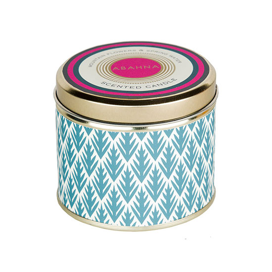 Abahna Mountain Flowers and Spring Water 3 Wick Candle 400g