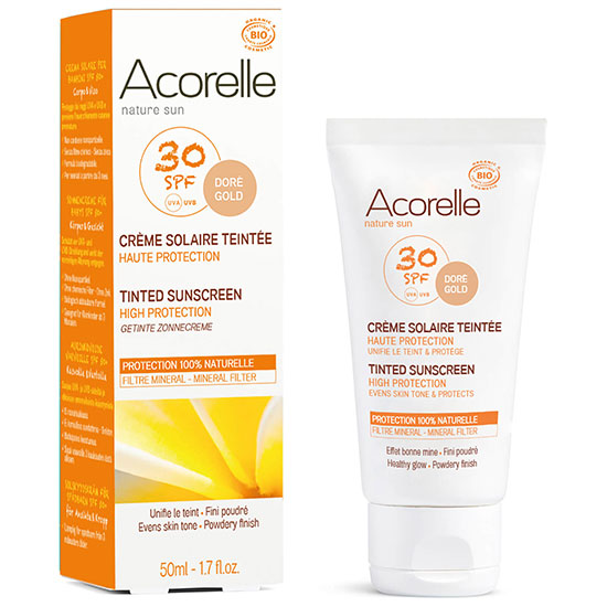 Acorelle Organic Tinted SPF30 Sunscreen Gold