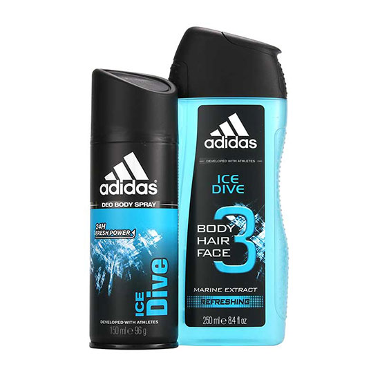Adidas Ice Dive 3 in 1 Gel Duo Gift Set