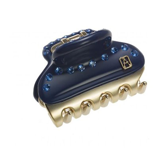 Alexandre de Paris Clip Vendome Blue 4.5cm