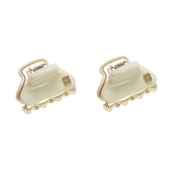Alexandre de Paris Vendome 2 Clips Box White 1.8cm