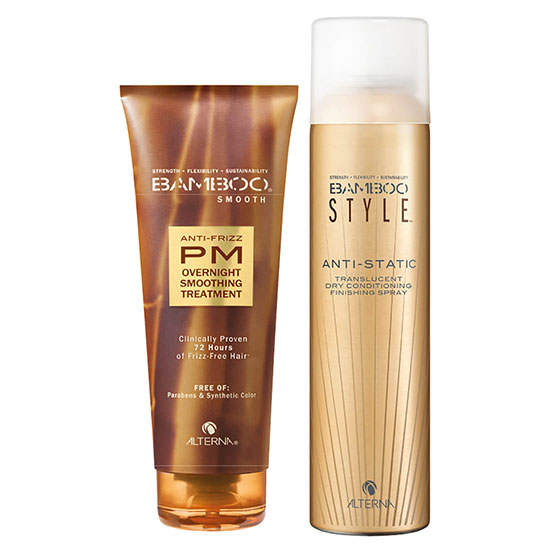 Alterna Bamboo Style Dry Finishing Spray & PM Overnight Smoothing Treatment Duo