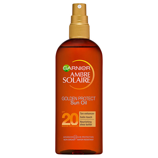 Ambre Solaire Golden Protect Shea Butter Tan Enhancing Sun Oil SPF20