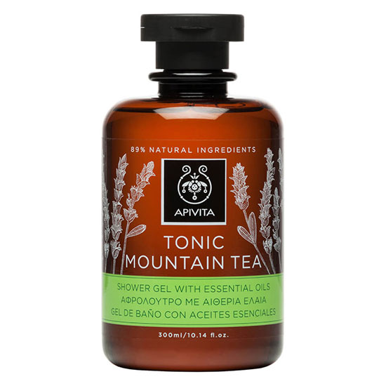 APIVITA Tonic Mountain Tea Shower Gel with Essential Oils