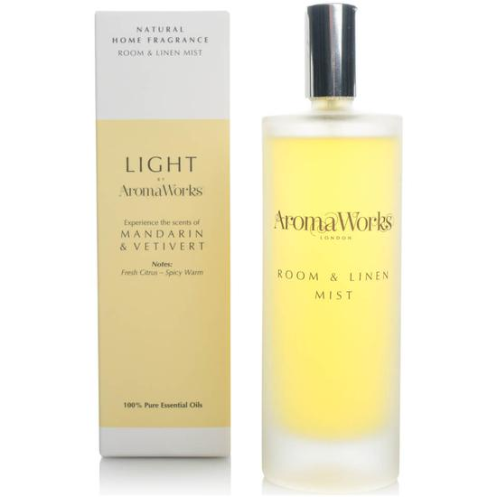 Aroma Works Light Range Room Mist Mandarin & Vetivert
