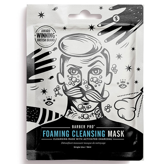 BARBER PRO Foaming Cleansing Mask With Activated Charcoal