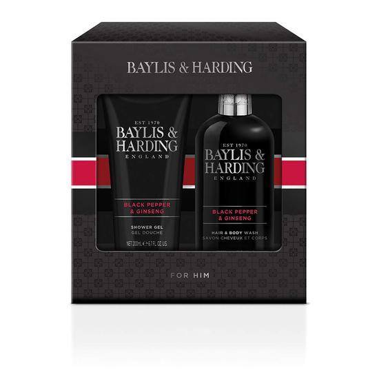 Baylis & Harding Signature Men's Black Pepper & Ginseng Large Duo Gift Set