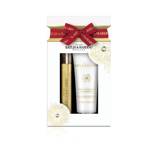 Baylis & Harding Sweet Mandarin & Grapefruit 2 Piece Cracker Gift Set