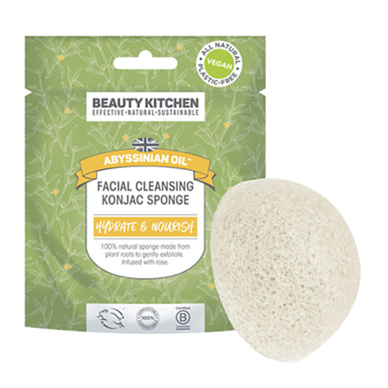 Beauty Kitchen Abyssinian Oil Rose Konjac Sponge