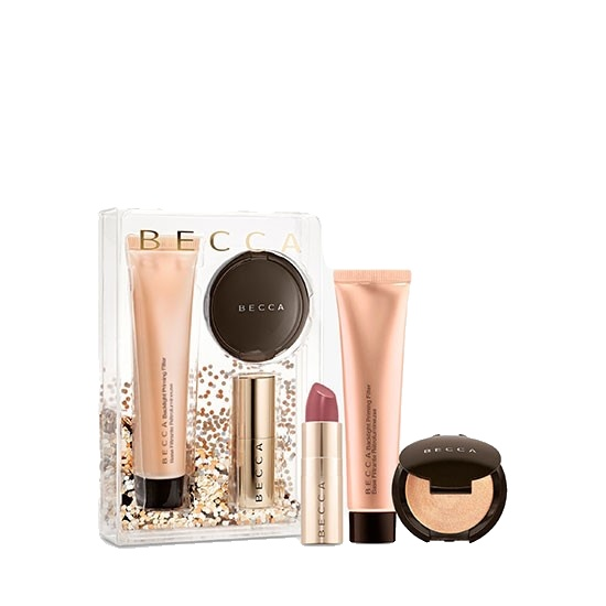 BECCA Your Glow To Glow Primer Highlighter & Lip Makeup Gift Set