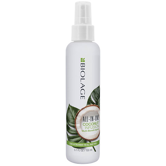 Biolage All In One Coconut Infusion Multi Benefit Leave-In Spray For All Hair Types
