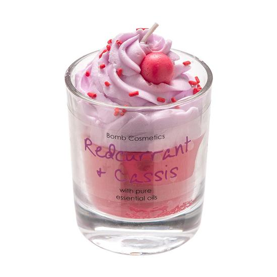 Bomb Cosmetics Bomb Redcurrant & Cassis Piped Candle 120g