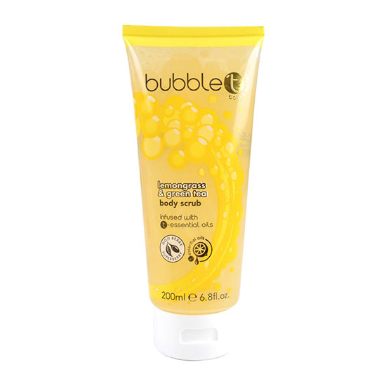 Bubble T Bath & Body Shower Body Scrub Lemongrass & Green Tea