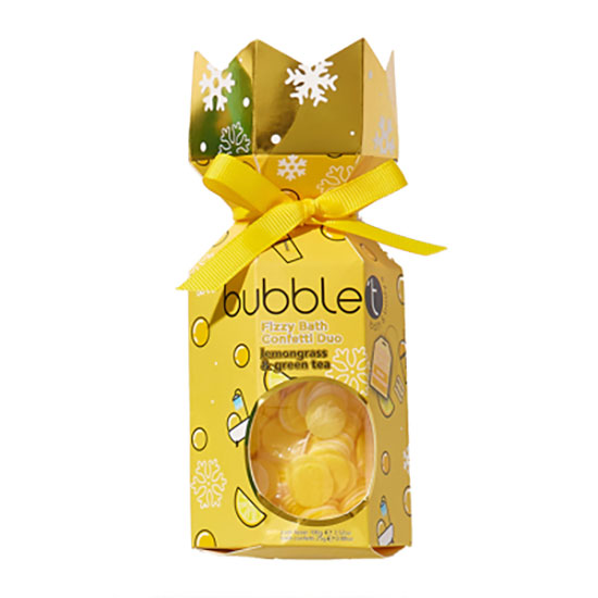 Bubble T Fizzy Bath Confetti Duo Lemongrass & Green Tea