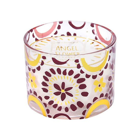Candlelight Bohemian Plum Wax Filled Pot Candle 250g