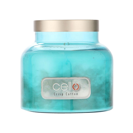 Cello Fragrance Burst Crisp Cotton Candle Large