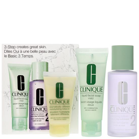 Clinique 3 Step Introduction Kit For Dry Combination Skin