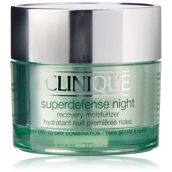 Clinique Superdefense Night Recovery Moisturiser Skin Types 1/2 50ml