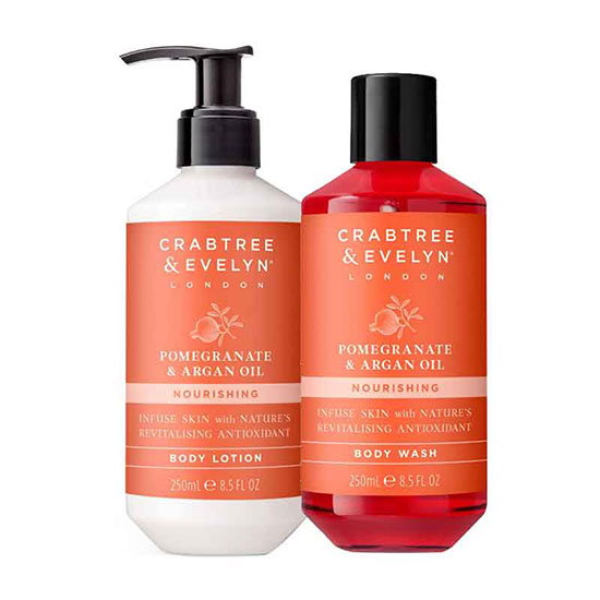 Crabtree & Evelyn Pomegranate Cocoon & Pamper Body Duo