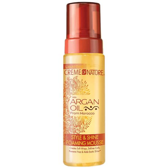 Creme Of Nature Argan Oil Style & Shine Foaming Mousse 207ml
