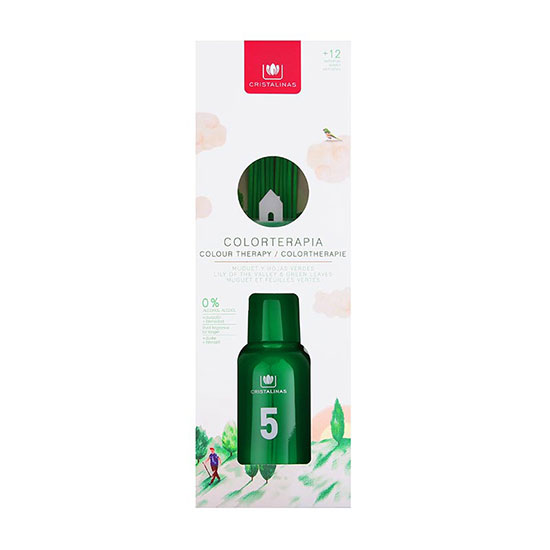 Cristalinas Lily & Green Leaves Colourtherapy Reed Diffuser