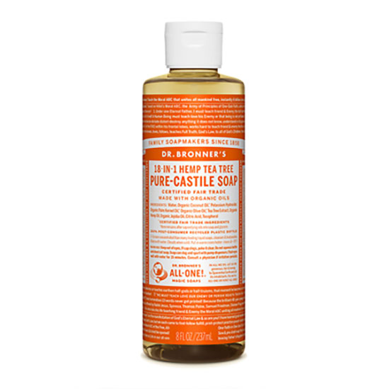 Dr Bronner's Organic Tea Tree Castile Liquid Soap 237ml
