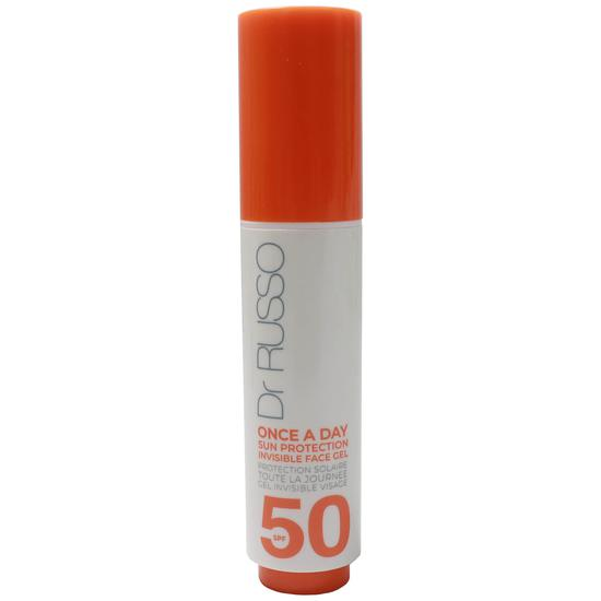 Dr Russo Once A Day Sun Protective Invisible Face Gel SPF50 15ml