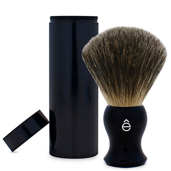 e-Shave Fine Badger Travel Shaving Brush with Canister