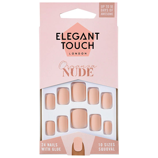 Elegant Touch Nude Nails Organza
