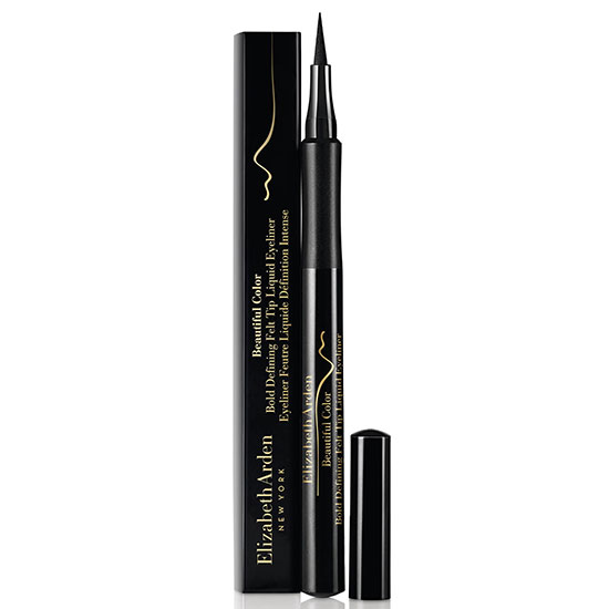 Elizabeth Arden Beautiful Colour Bold Defining Felt Tip Liquid Eyeliner Seriously Black