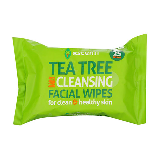Escenti Tea Tree Daily Cleansing Facial 25 Wipes