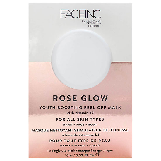 Nails Inc FACEINC By Nails Inc. Rose Glow Peel Off Pod Mask