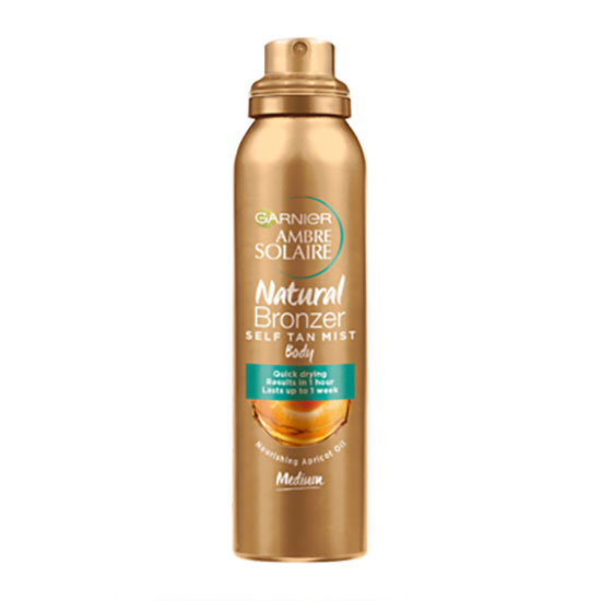 Ambre Solaire Natural Bronzer Quick Drying Medium Self Tan Body Mist 150ml