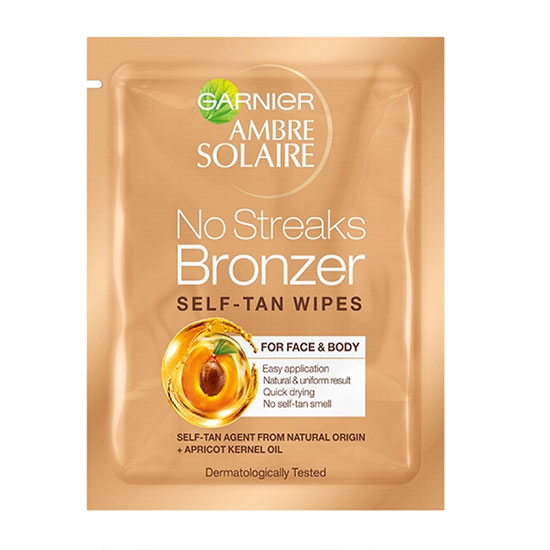 Garnier Ambre Solaire Original Natural Bronzer Self-Tan Face Wipe