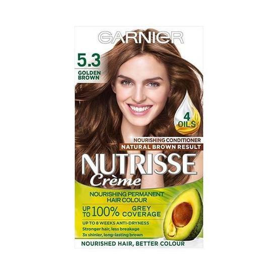Garnier Nutrisse 5.3 Golden Brown Permanent Hair Dye Natural Looking Hair Colour result