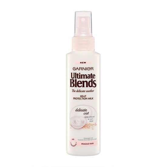 Garnier Ultimate Blends Delicate Smoother Heat Protect Milk