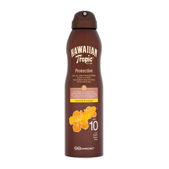 Hawaiian Tropic Protective Dry Continuous Spray Oil SPF10