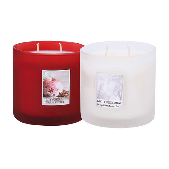 Heart & Home Ellipse Twin Wick Jar Candle Set