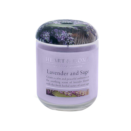 Heart and Home Lavender Sage Large Candle