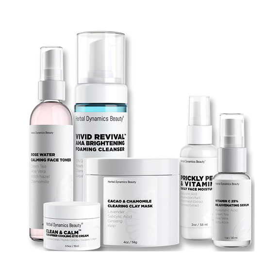 Herbal Dynamics Beauty Balancing Skincare Routine Bundle for Oily Skin Types