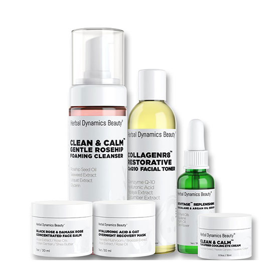 Herbal Dynamics Beauty Hydrating Skincare Routine Bundle for Dry Skin Types