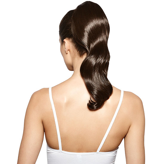 Hershesons Wavy Clip In Ponytail