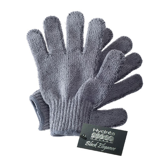 Hydréa London Bamboo Carbonised Exfoliating Shower Gloves