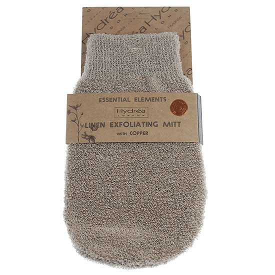 Hydréa London Exfoliating Linen Mitt With Copper