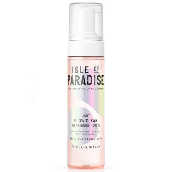 Isle of Paradise Glow Clear Self Tanning Mousse Light