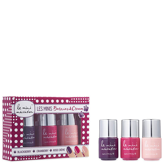 Le Mini Macaron Les Minis Gel Polish Trio Berries & Cream