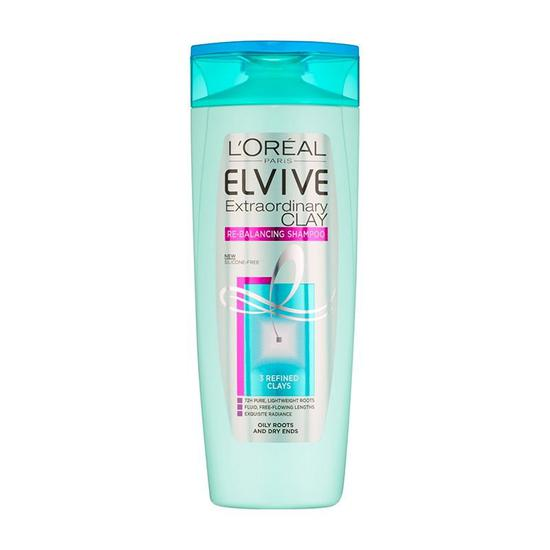 L'Oreal Elvive Clay Oily Roots Shampoo 400ml