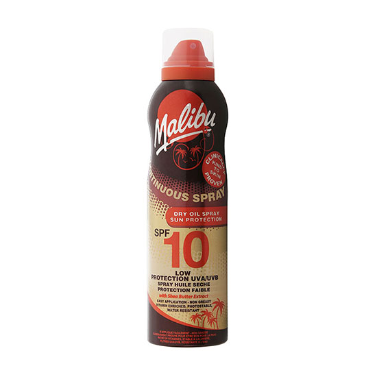 Malibu Continuous Spray SPF10 With Shea Butter 175ml